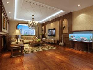 泰和地中海美式风格四居装修效果图