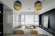 【维享家装饰】115平三居室撞色现代风格家